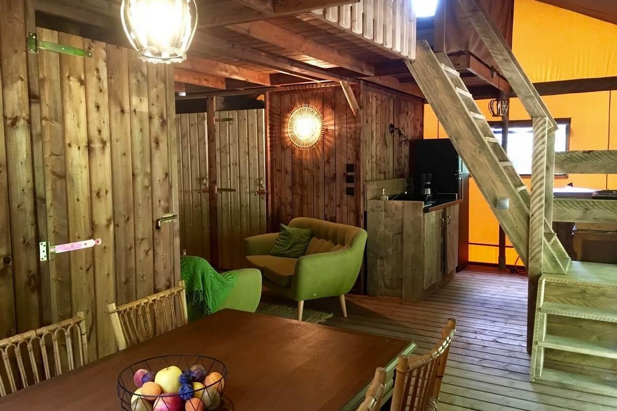 Salle à manger Tente Elisabeth Les Lodges du Château