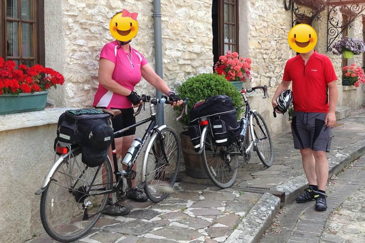 Des amis cyclistes