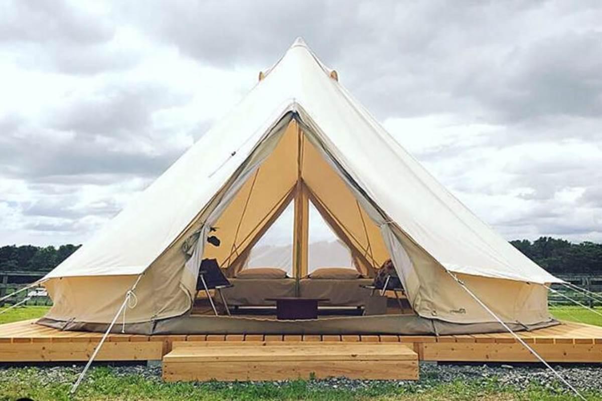 Bel tente sur terras