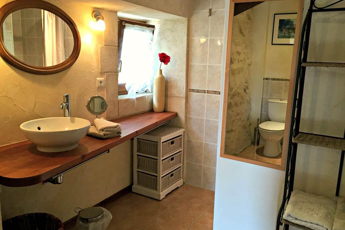 La salle d'eau avec douche à l'italienne