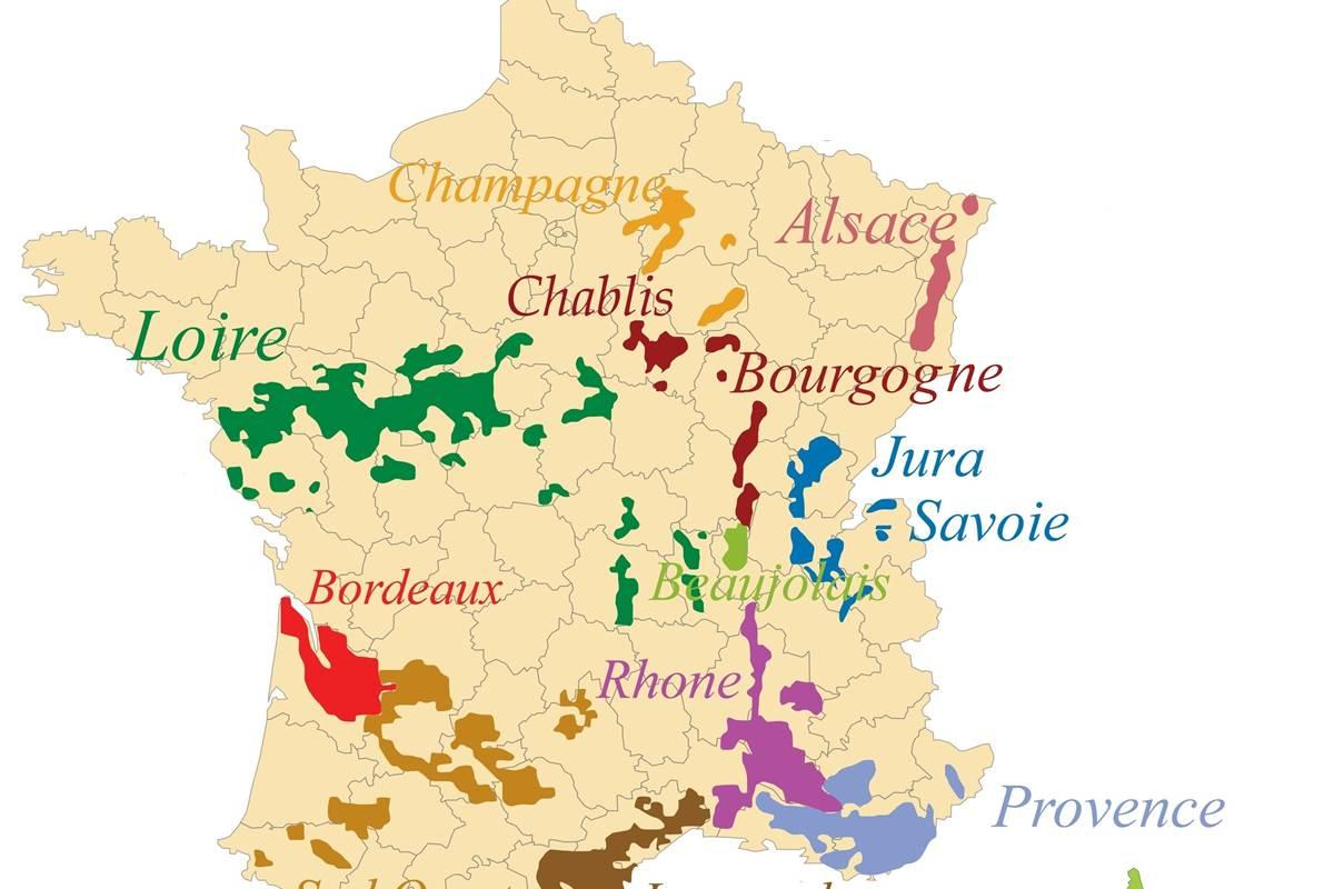 régions vin de France