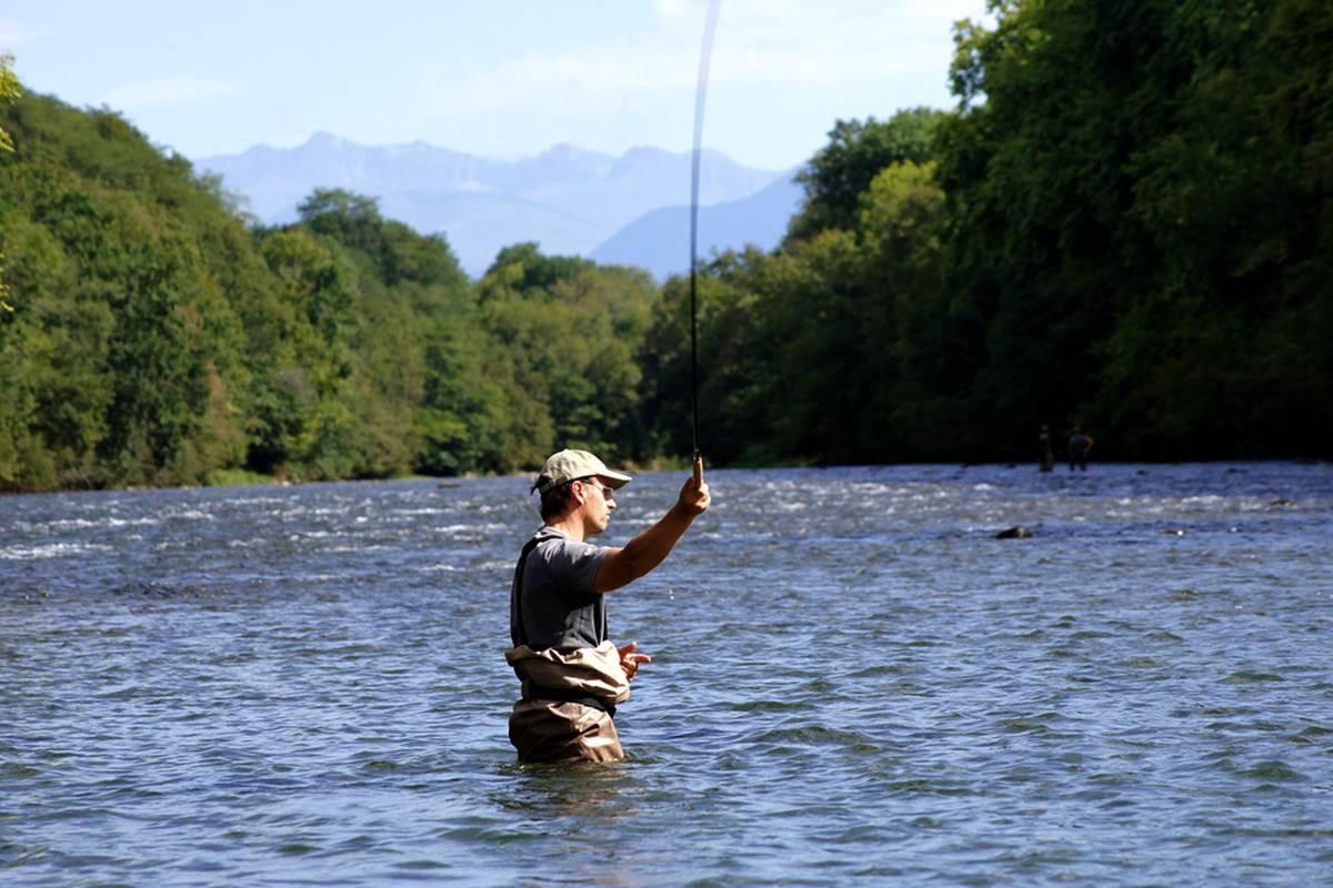 pêche à la mouche pêche au saumon