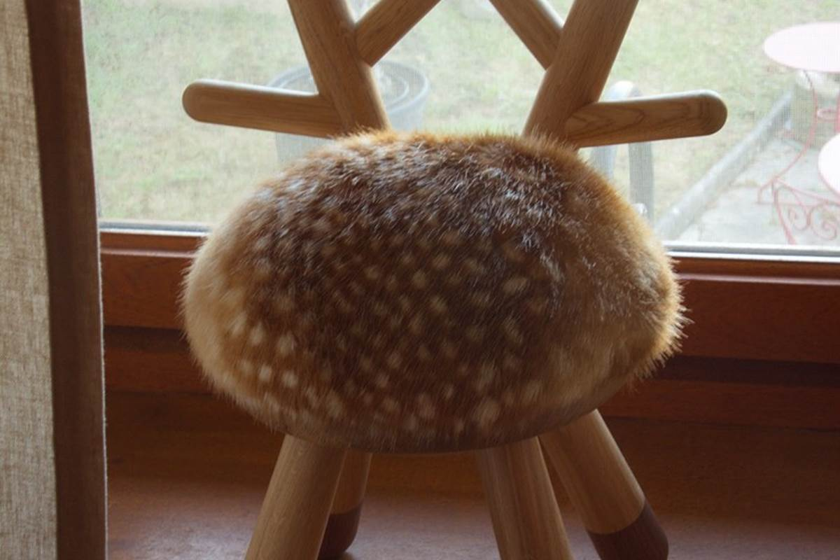 Bambi chair and terrace view