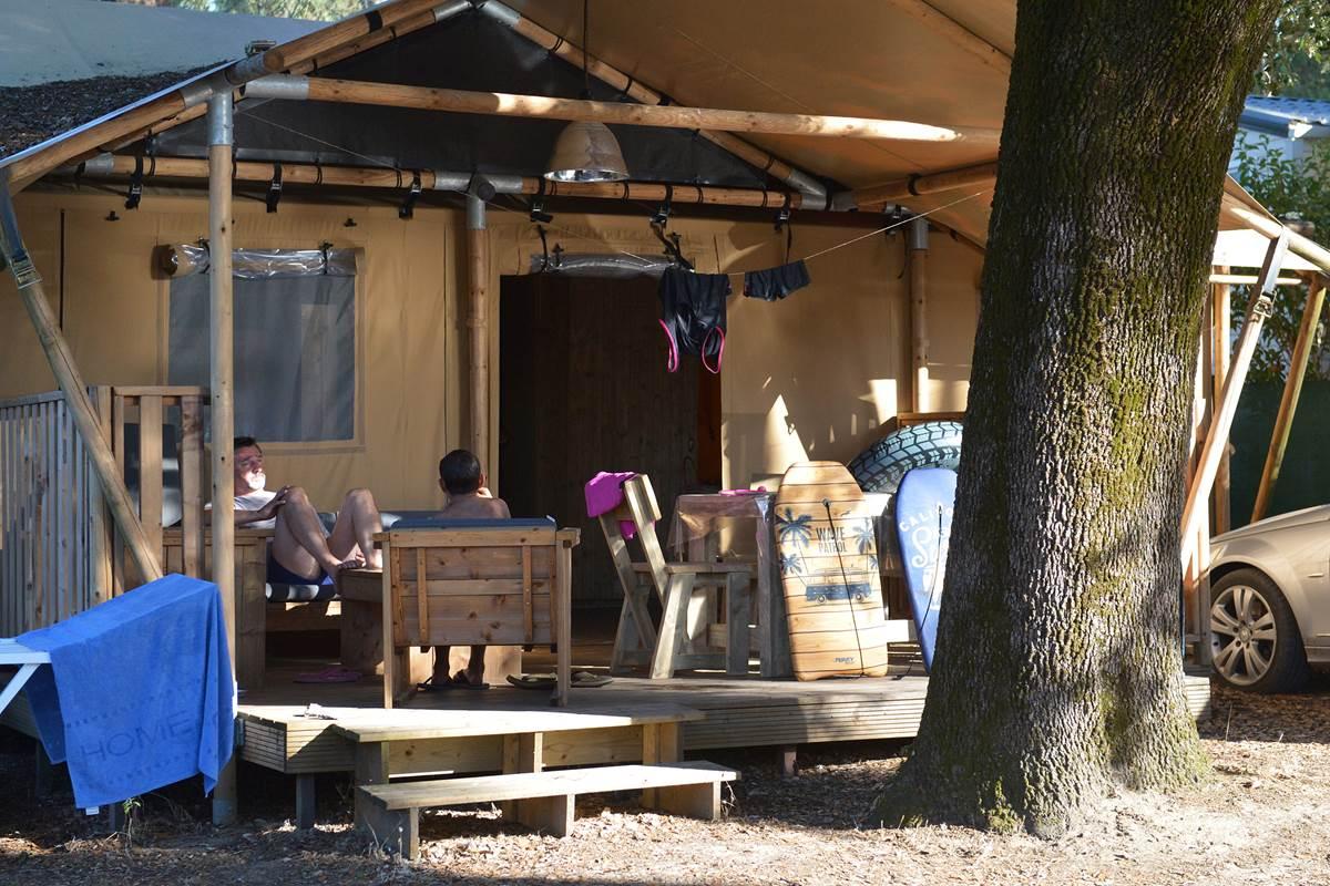 Safari Lodge 6 pers. sans étage - Camping Les Pins - Ile d'Oléron