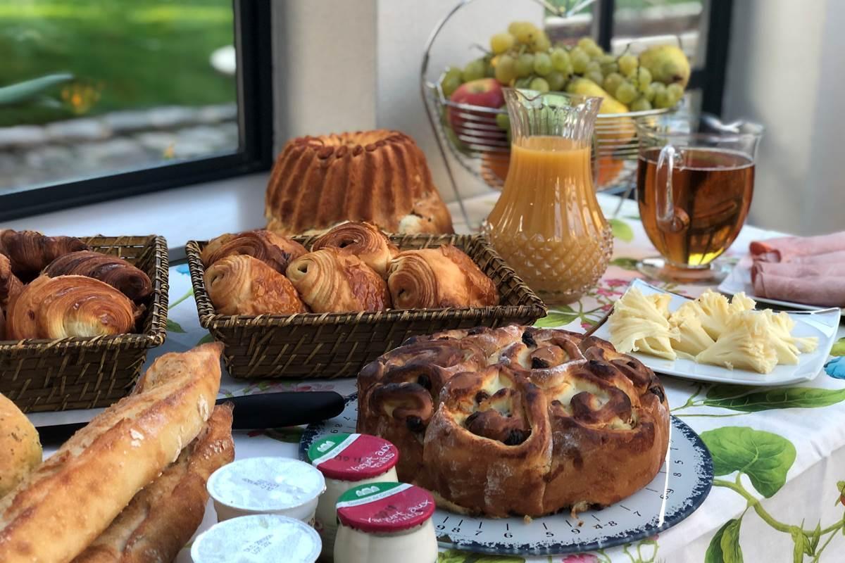 Le Clos Saint Lubin - Le petit-déjeuner