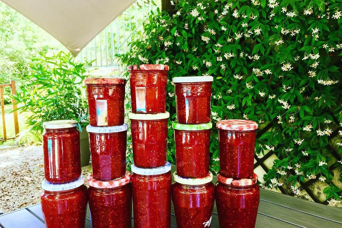 confiture fraises périgord Feuillantines bnb
