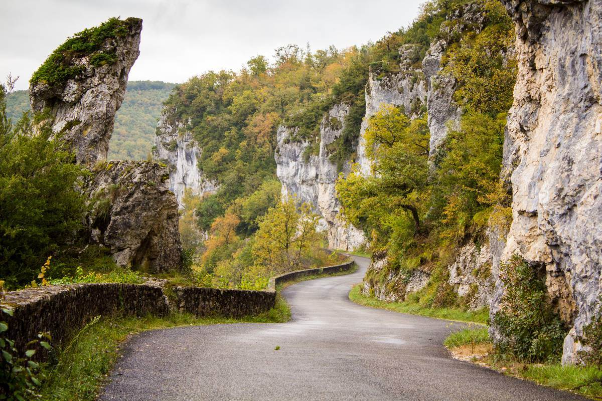 Route de la Falaise - Bouziès