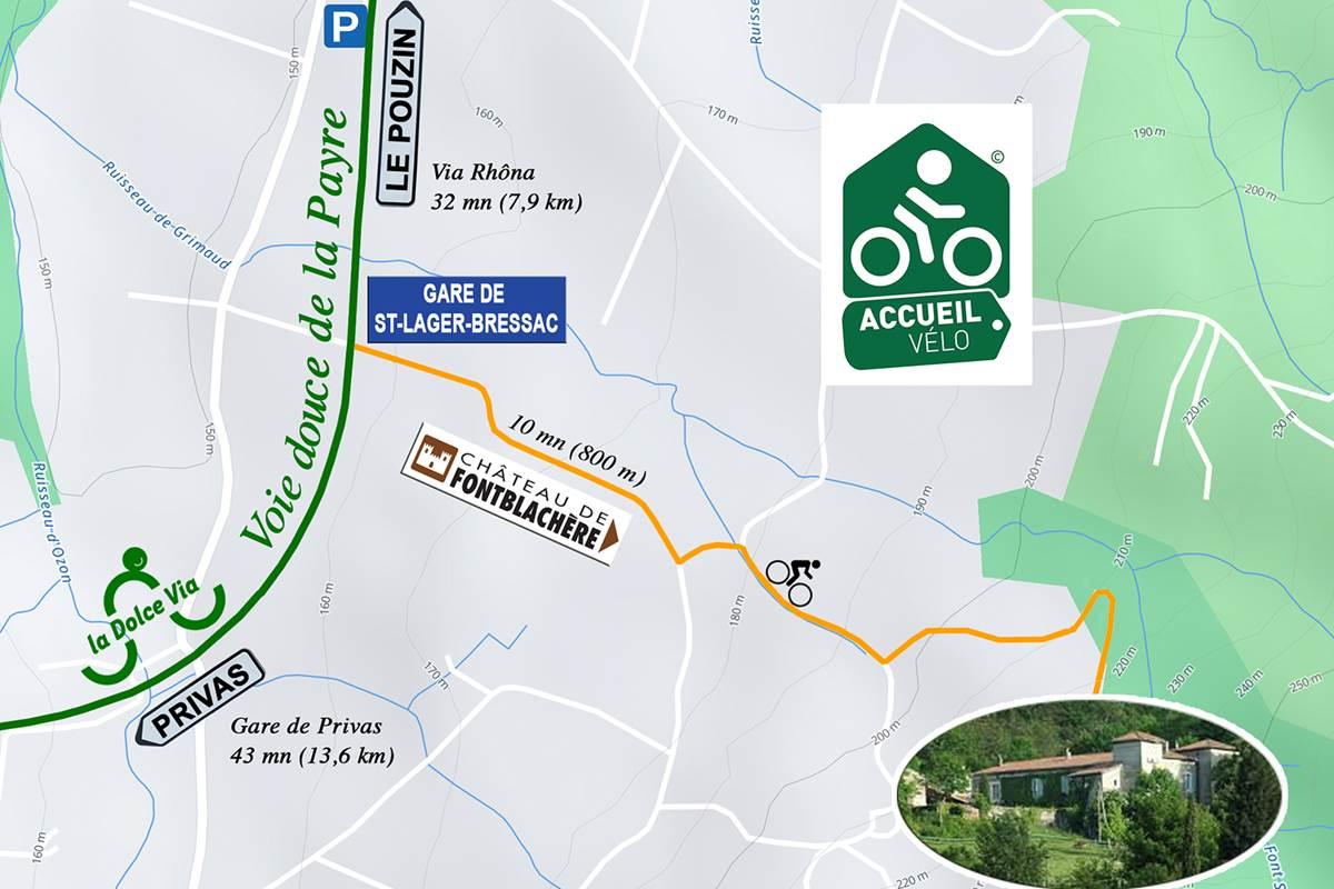 Plan d'accès vélo
