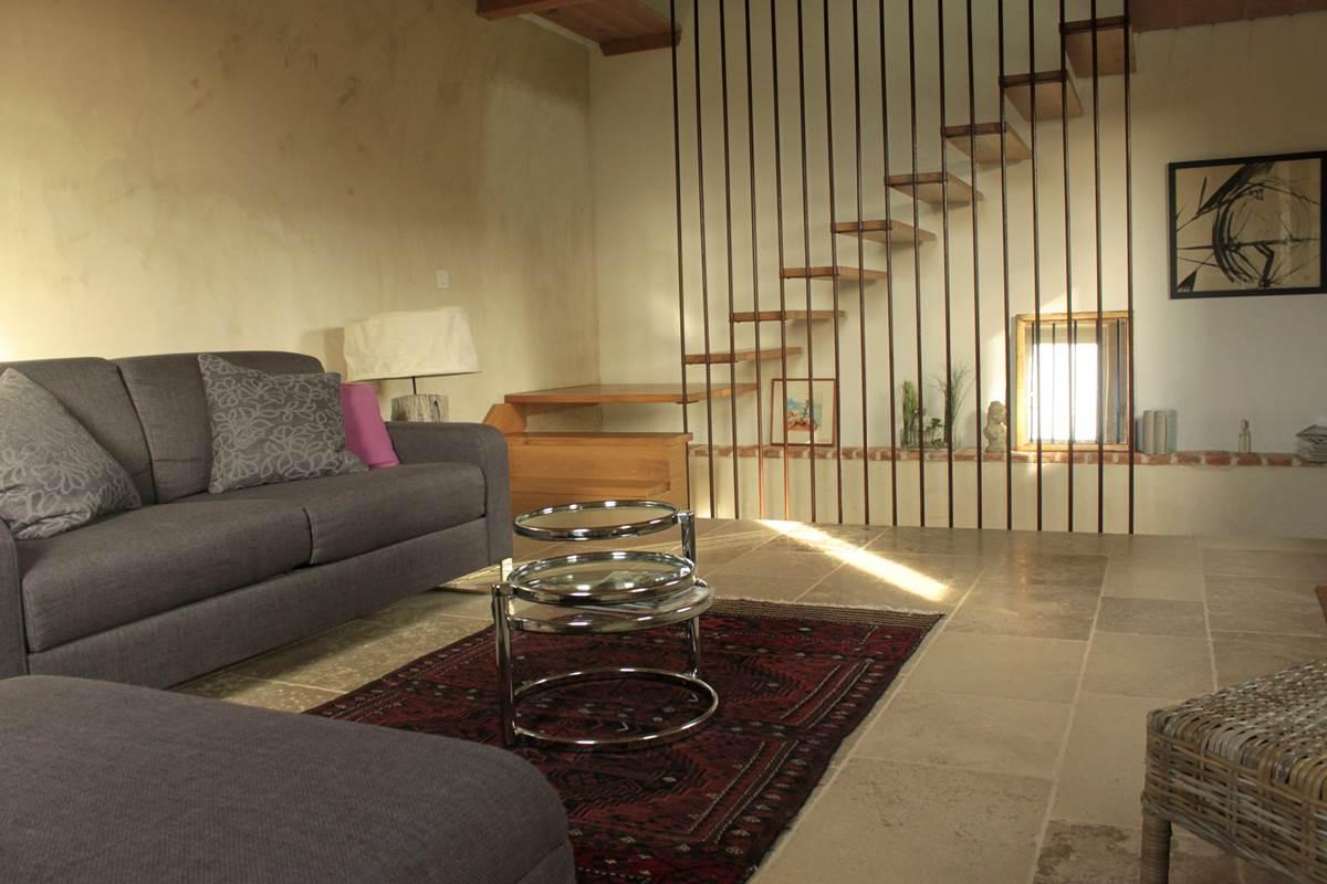 salon suite au rez-de-chaussée (20 m²) Domaine Le Broual, chambres d'hôtes de charme dans le Lot