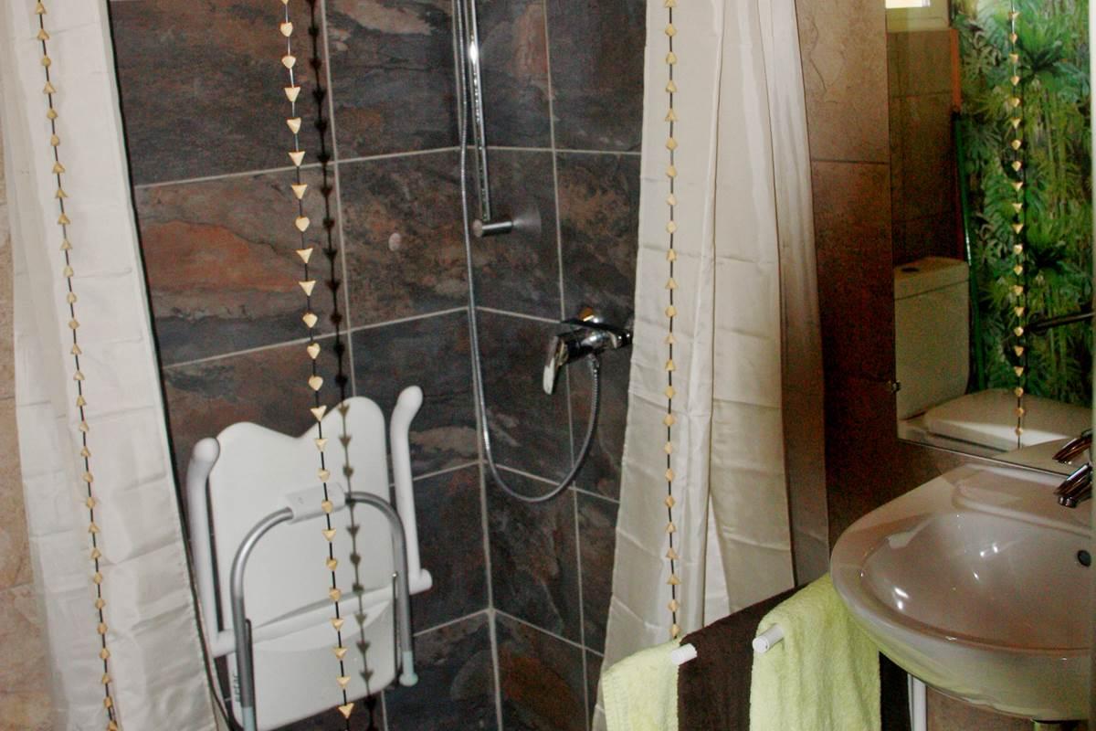 La salle d'eau, avec douche à l'italienne