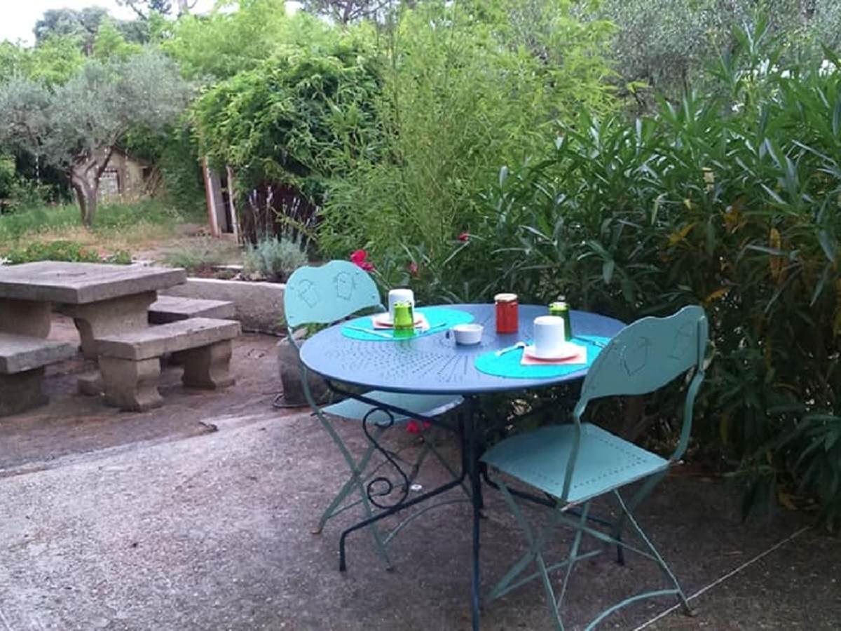 Le petit déjeuner sur la terrasse face à la piscine (4)