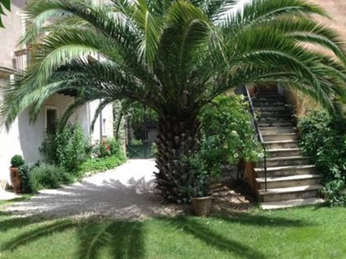 Vue panoramique du jardin intérieur