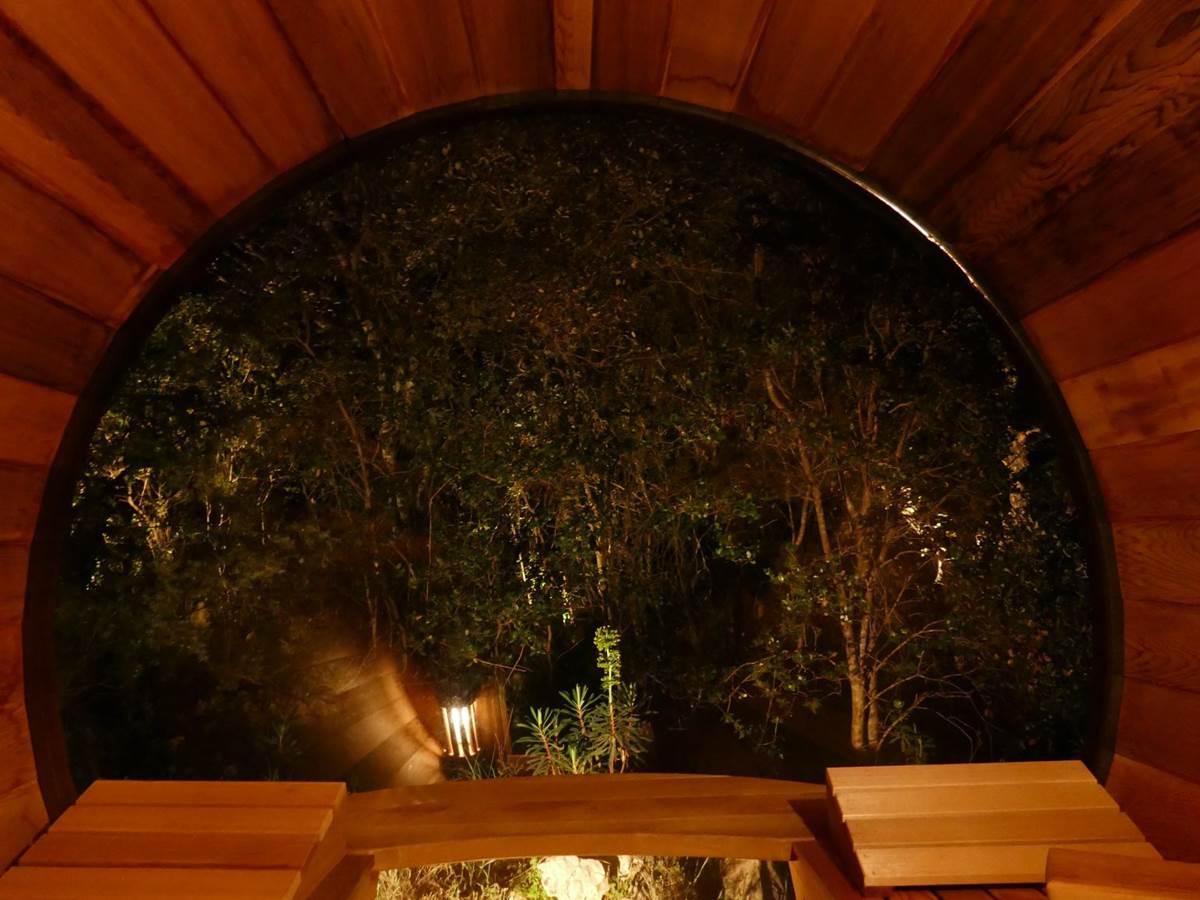 Vue du sauna de nuit