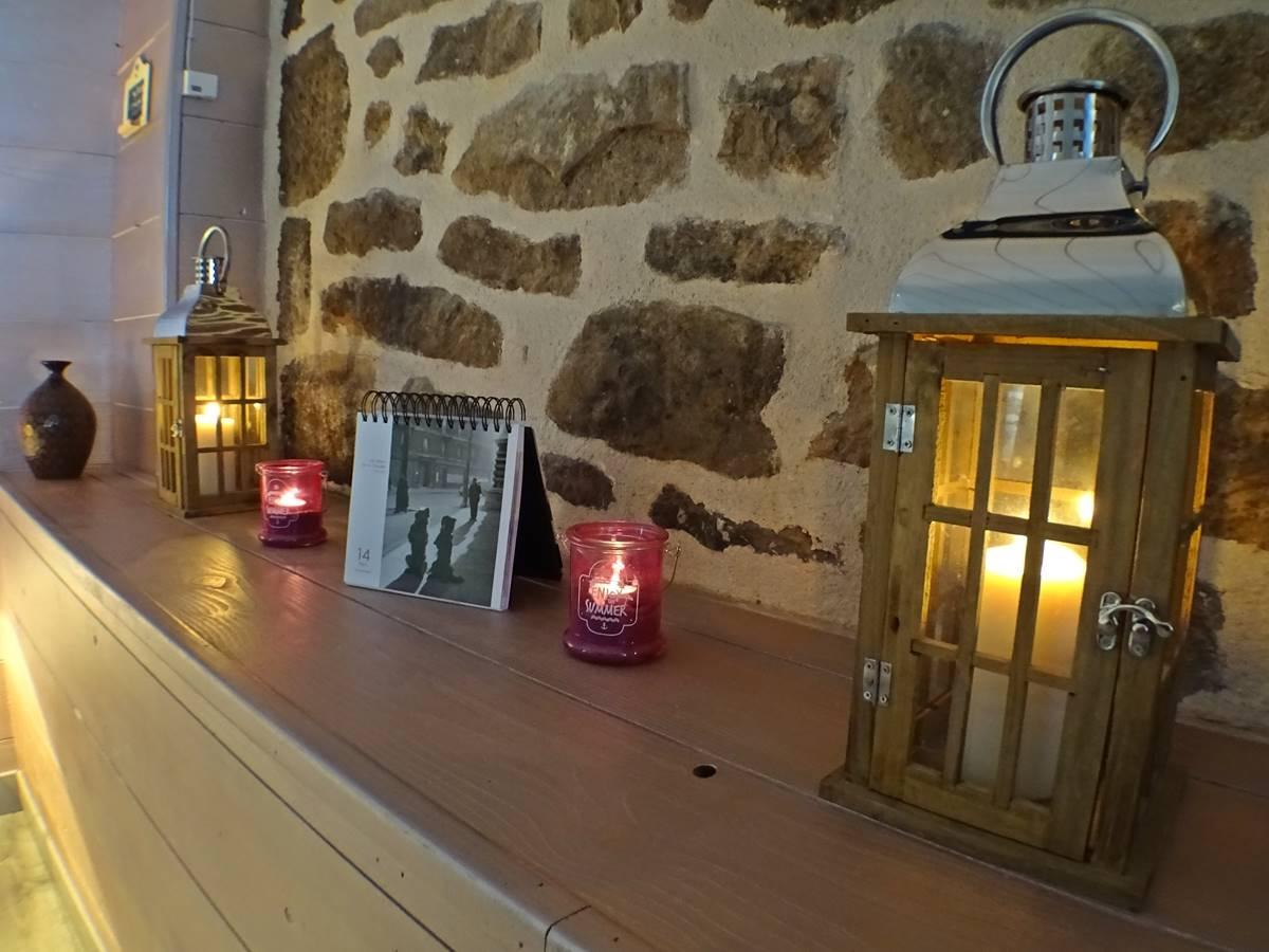 les instants voles spa privatif - A la lueur des bougies.