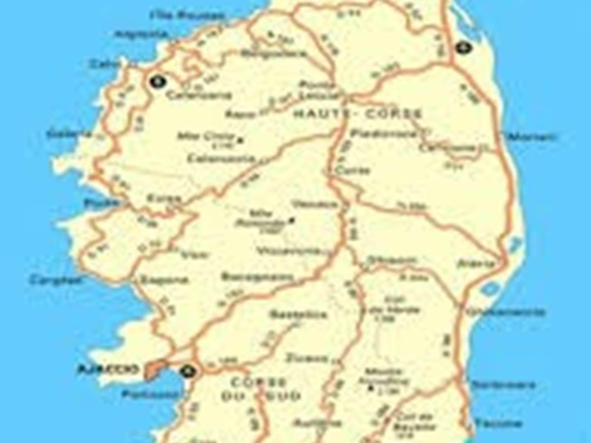 Carte avec emplacement du village de Barbaggio