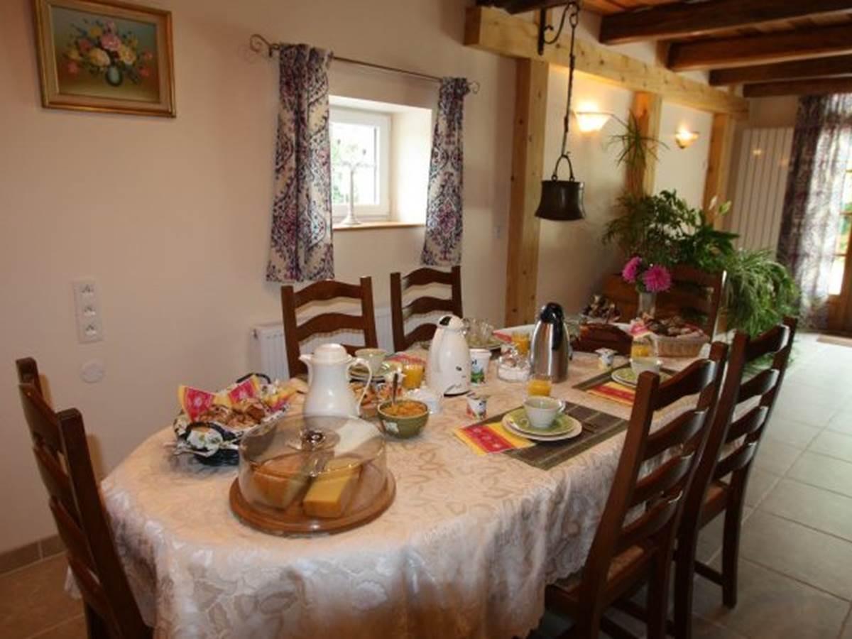 La salle du petit déjeuner
