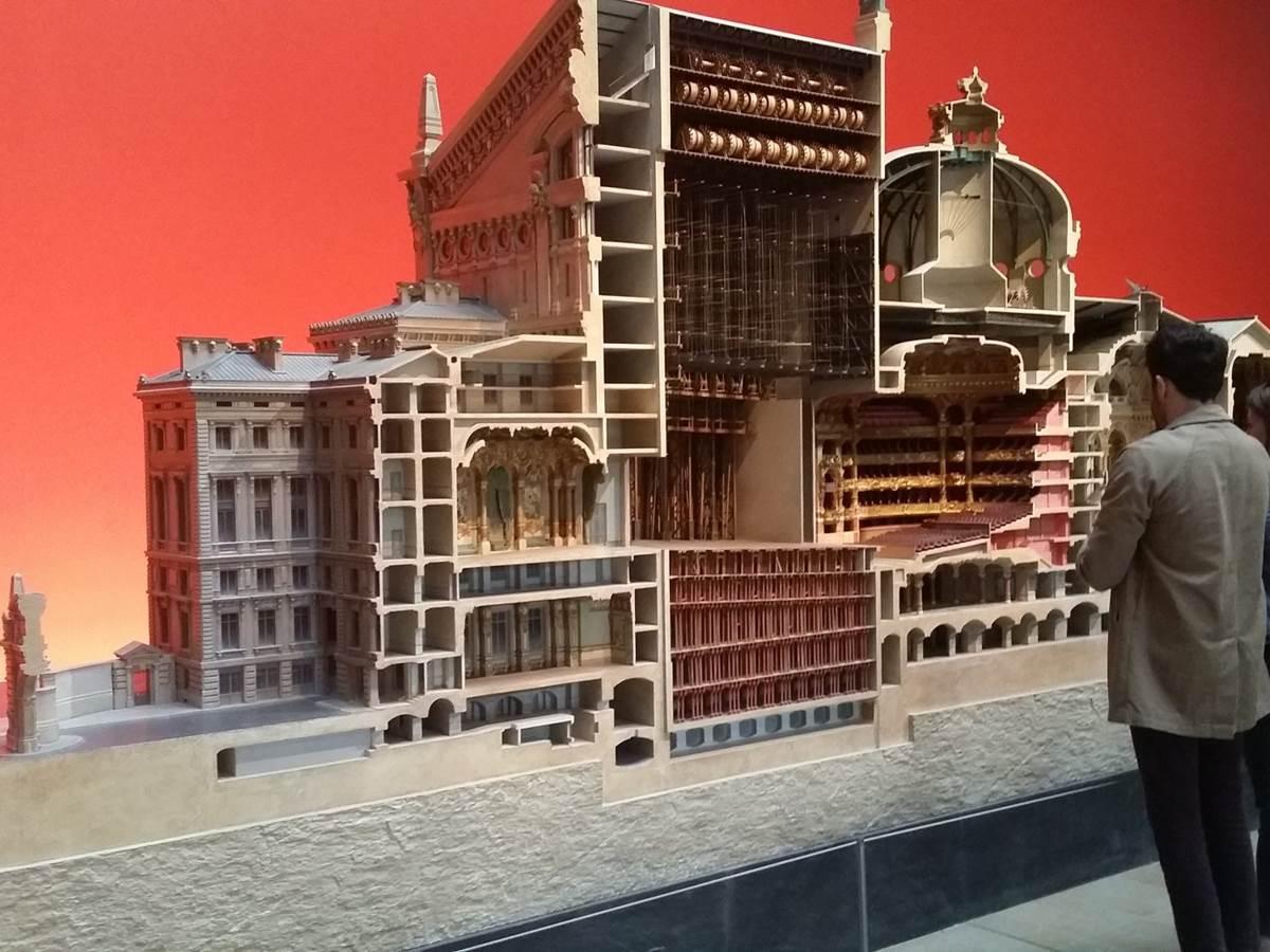 Model of Palais Garnier, the fascinating Paris opera house