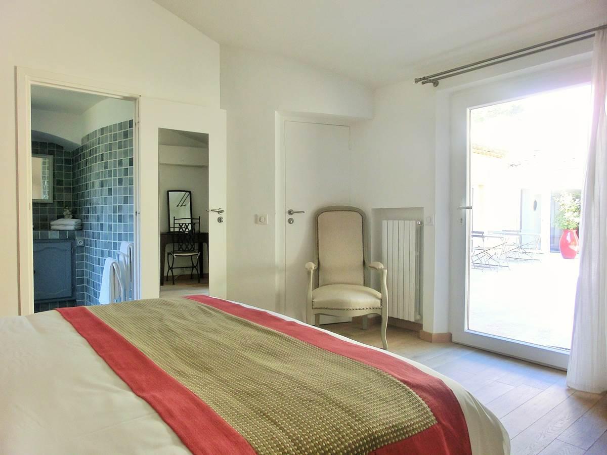 Chambre double Provence sur Patio à Bandol dans le Var