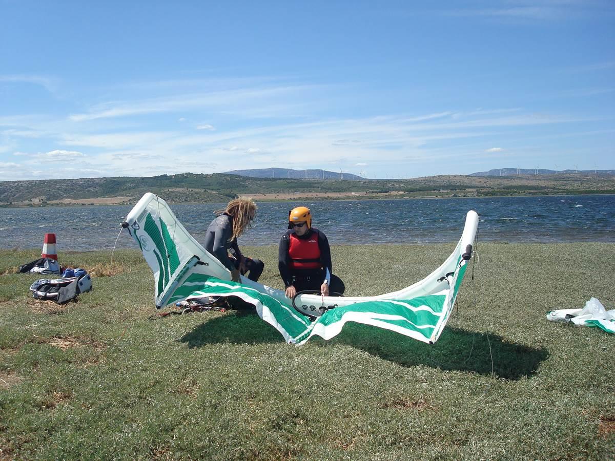 Le spot de kite