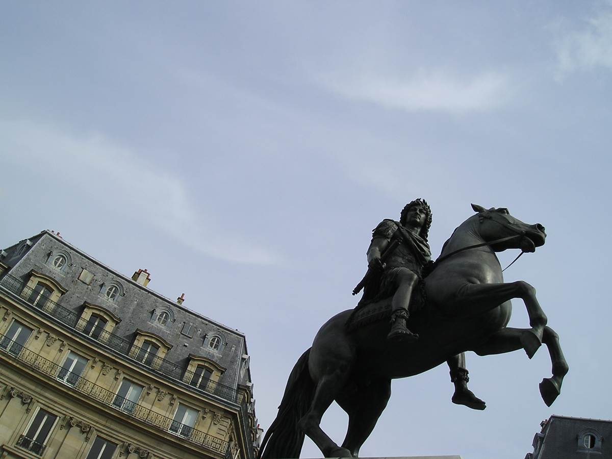 Place des Victoires - Louis XIV glorious on his horse