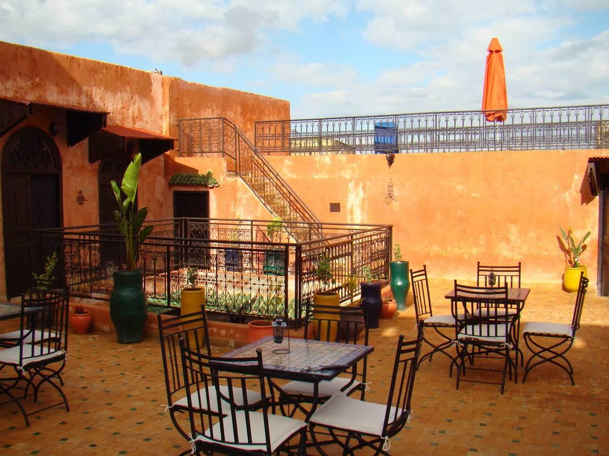 La terrasse du riad Menthe et Citron à Meknès