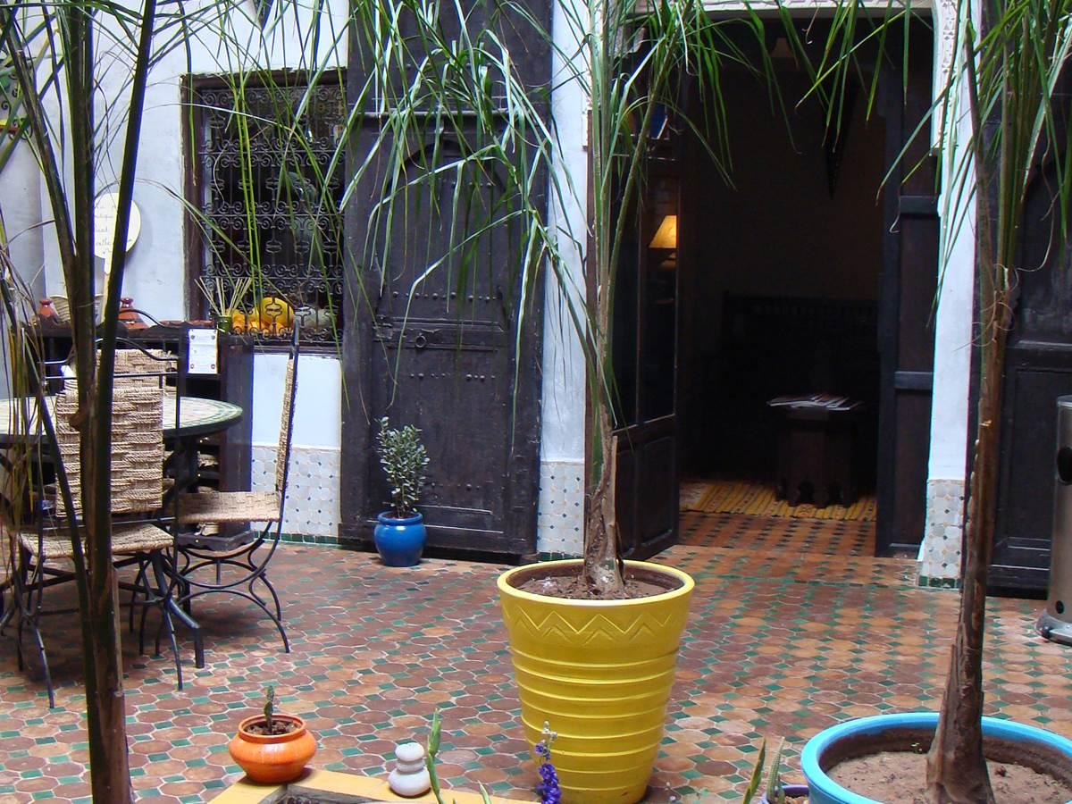 Le patio du riad Menthe et Citron à Meknès