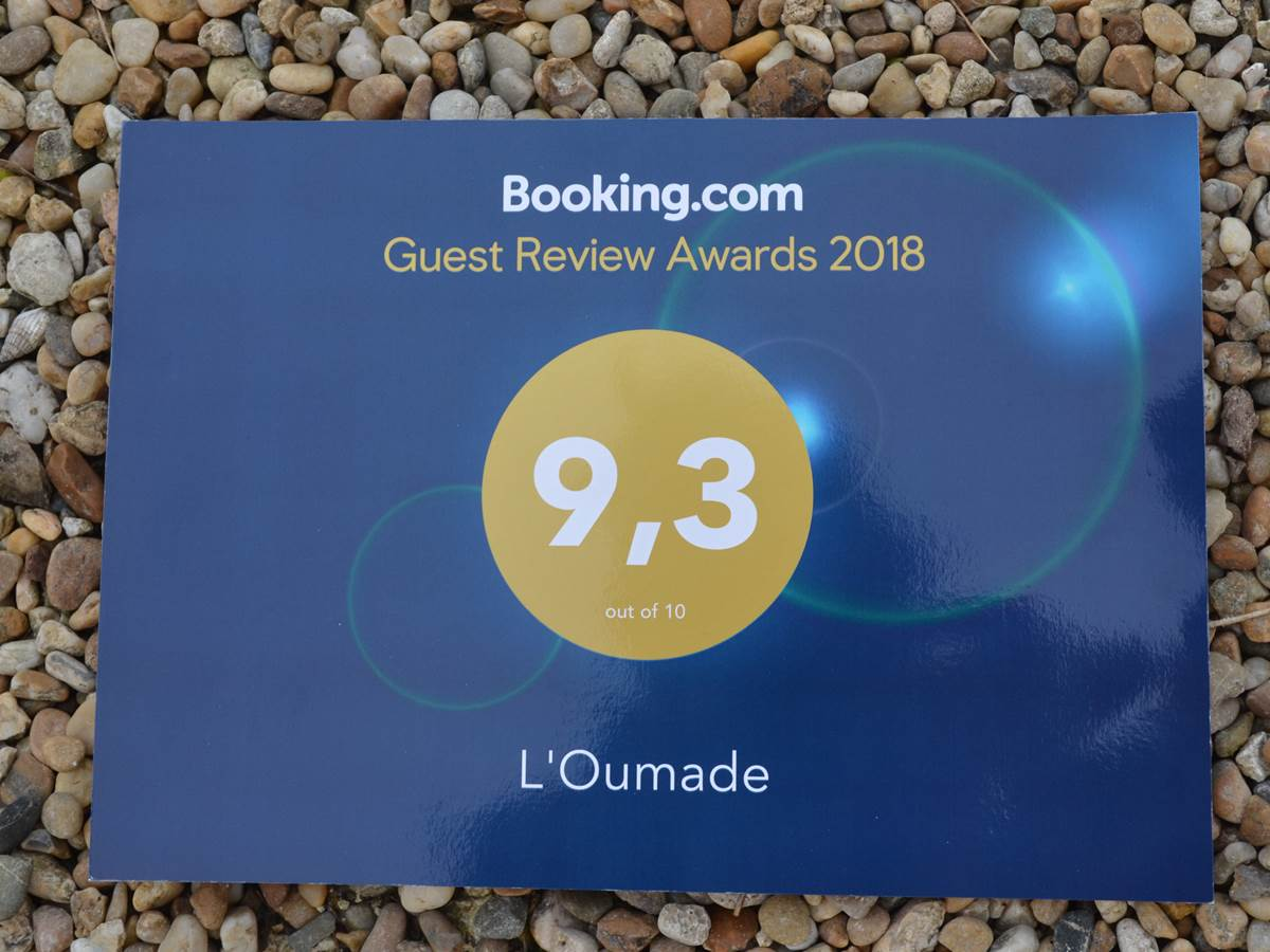 Note des clients 2018 sur booking.com