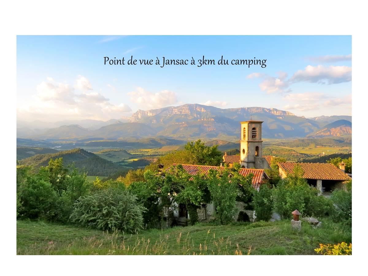 Point de vue à Jansac à 3km du camping