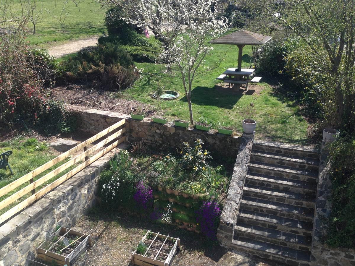 Chambre Le Potager,  vue jardin