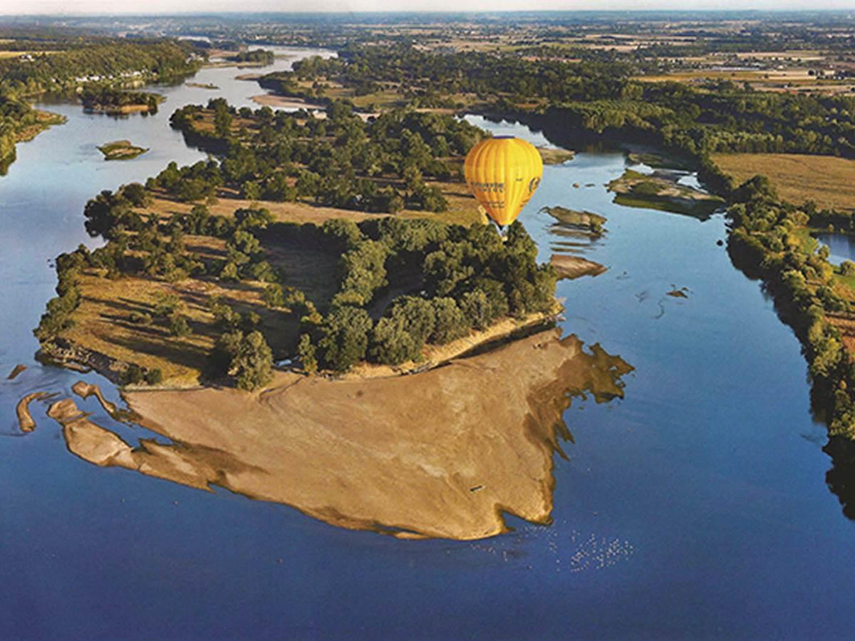 Loire vu du Ciel depuis le Maine et Loire 49