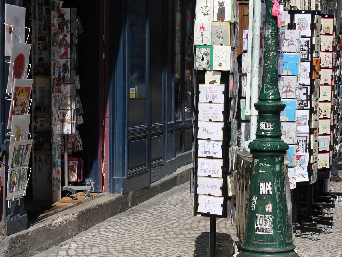 Librairie rue Montorgueil à Etienne Marcel