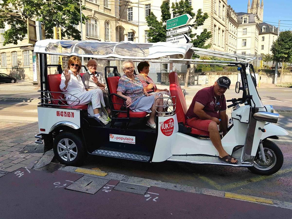 Tuk tuk Limoges circuit touristique