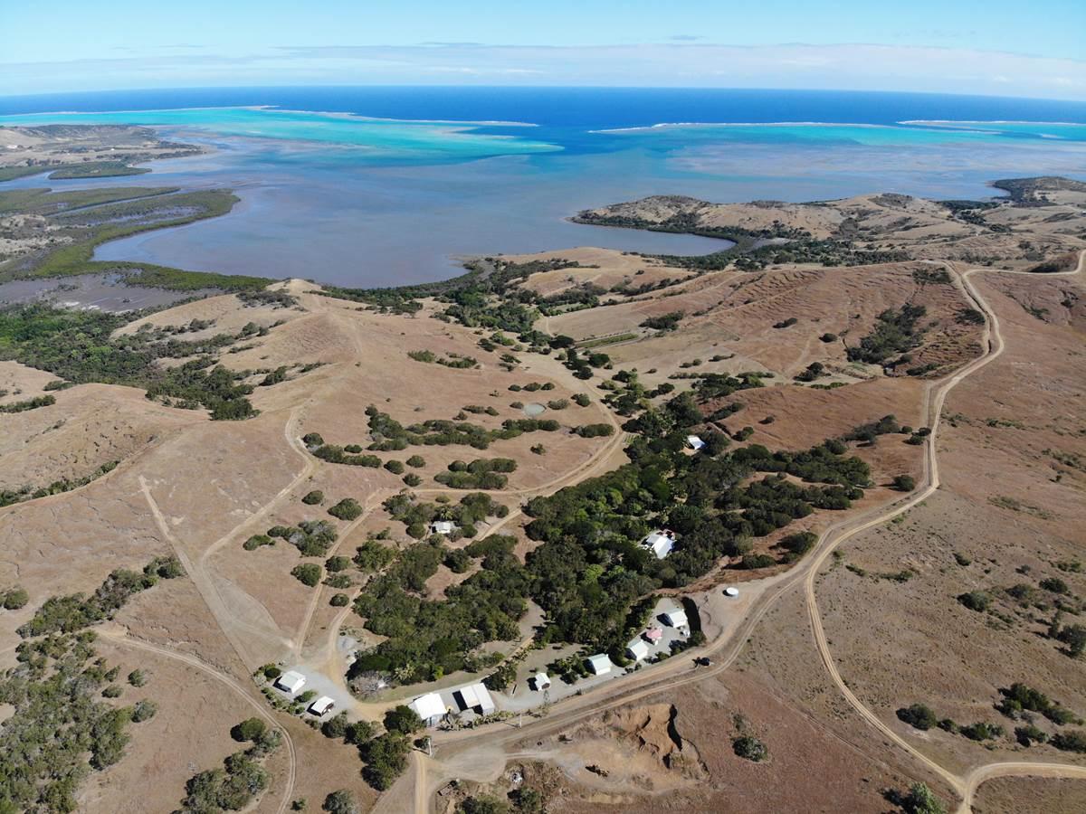 Vue aérienne du Gîte du Cap