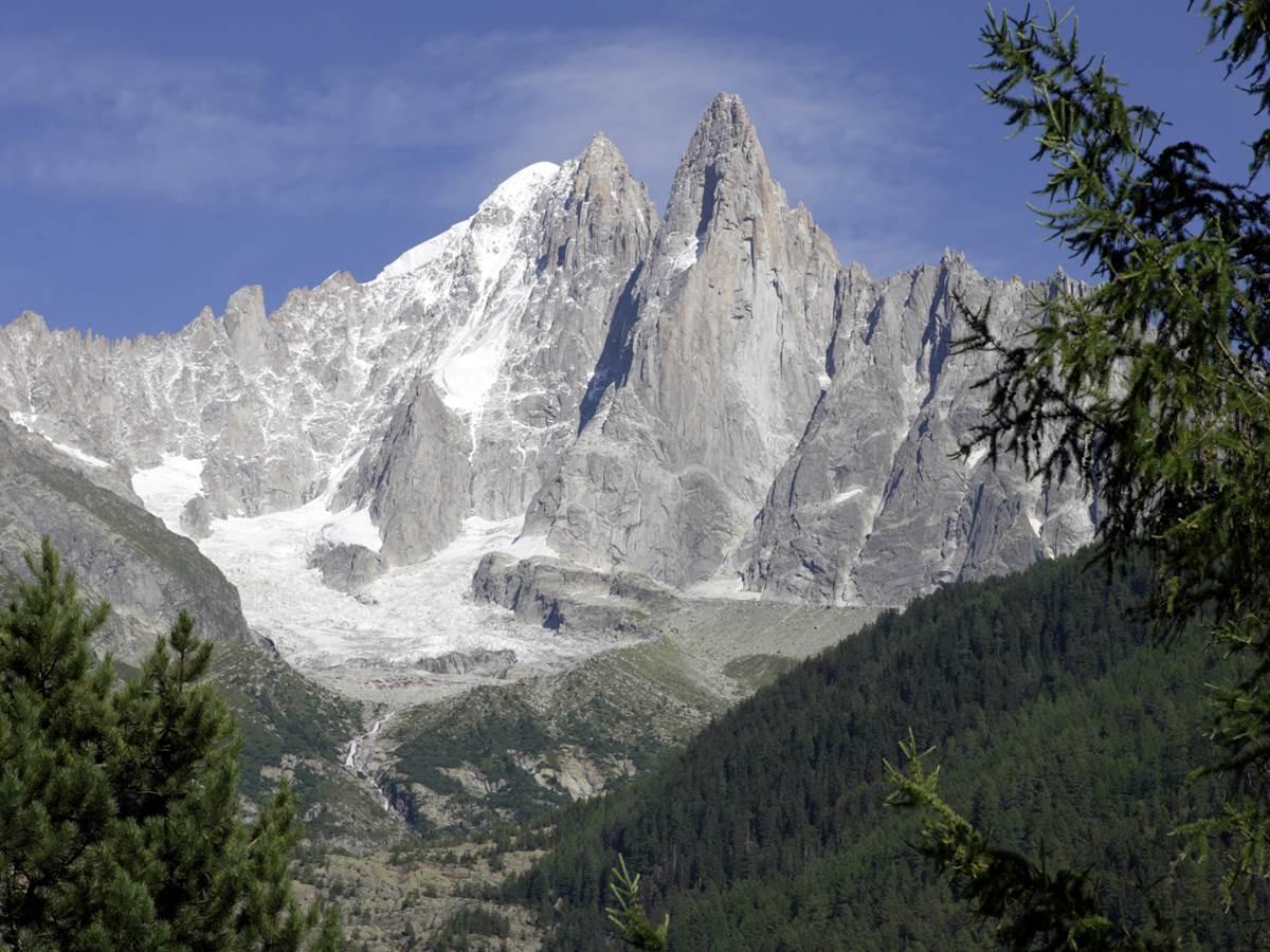 Les Drus, la Verte, Massif du Mont-Blanc, photographie prise de la Flègère