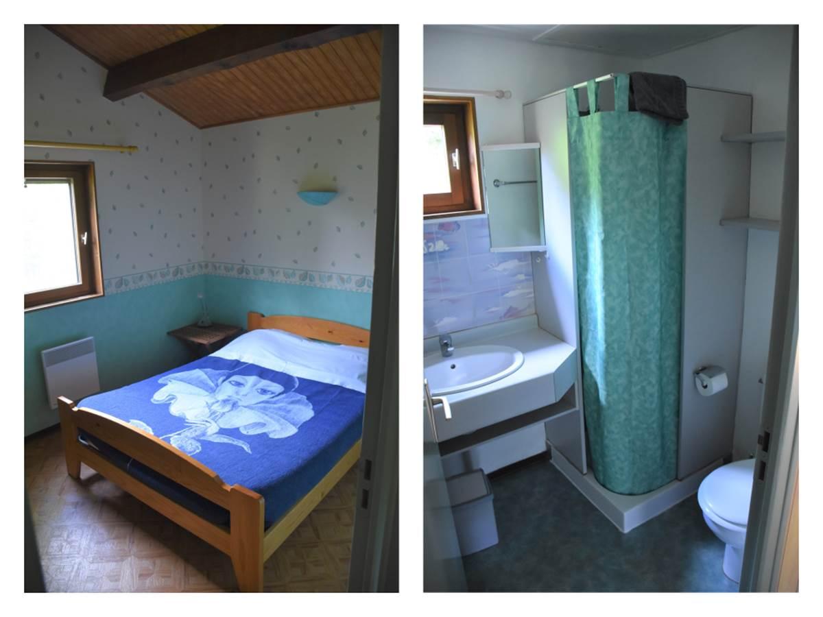 Chambre et salle de bains