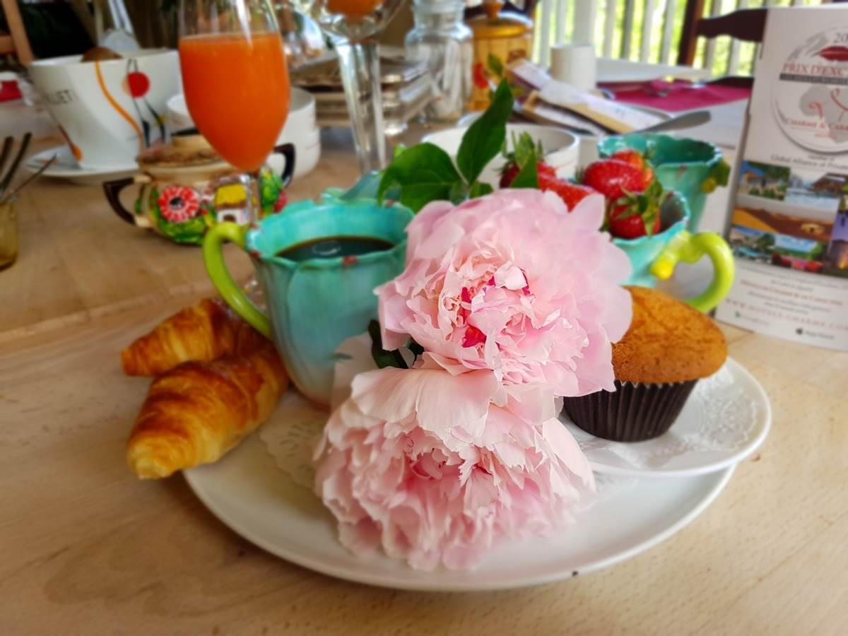 printemps-petit déjeuner gourmandbrunch au Ranch des Lacs Hôtel 87120