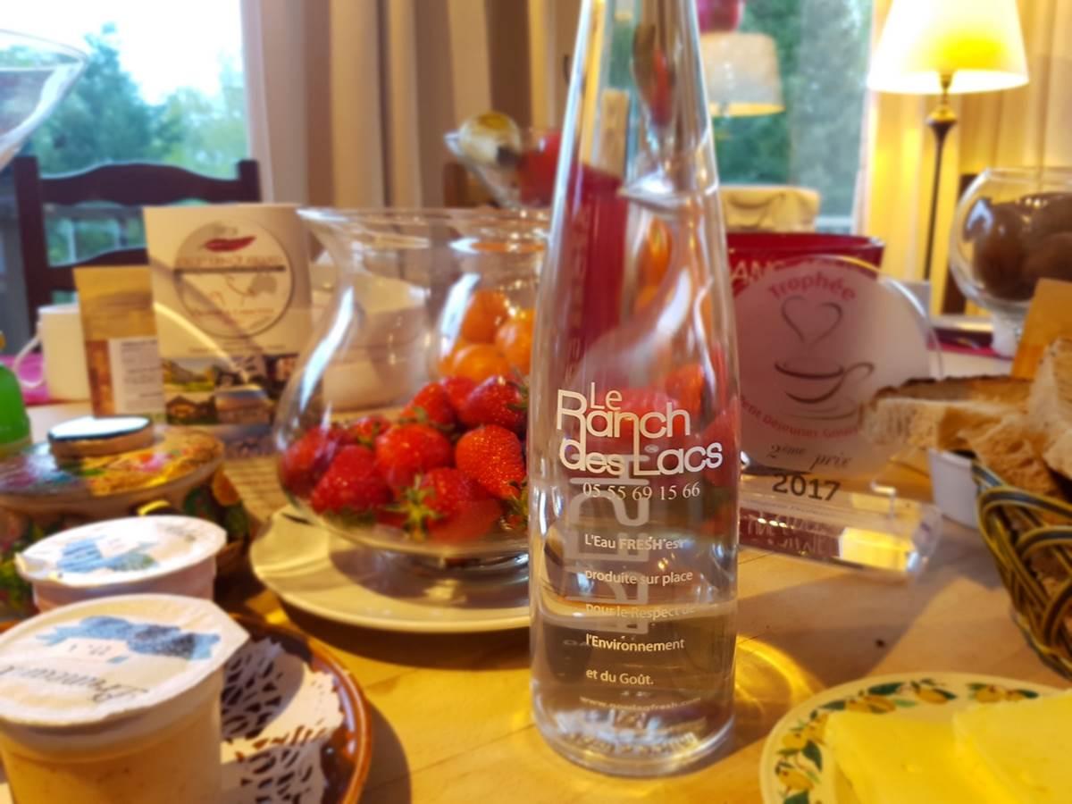 eau d'ici Nordacq Fresh eco-responsable au brunchpetit déjeuner gourmand du Ranc des Lacs