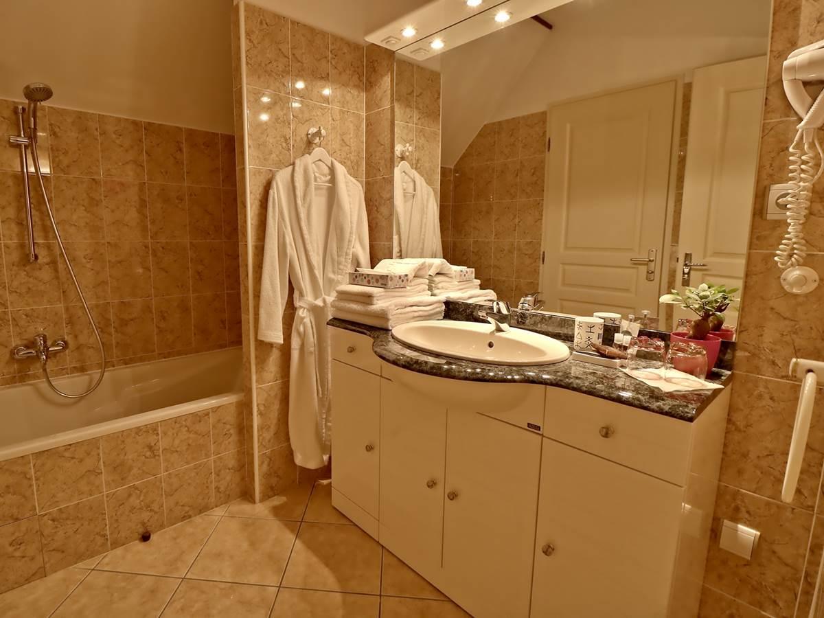 Salle de bain Chambre triple Confort Le Pas de' Âne Saint Ondras