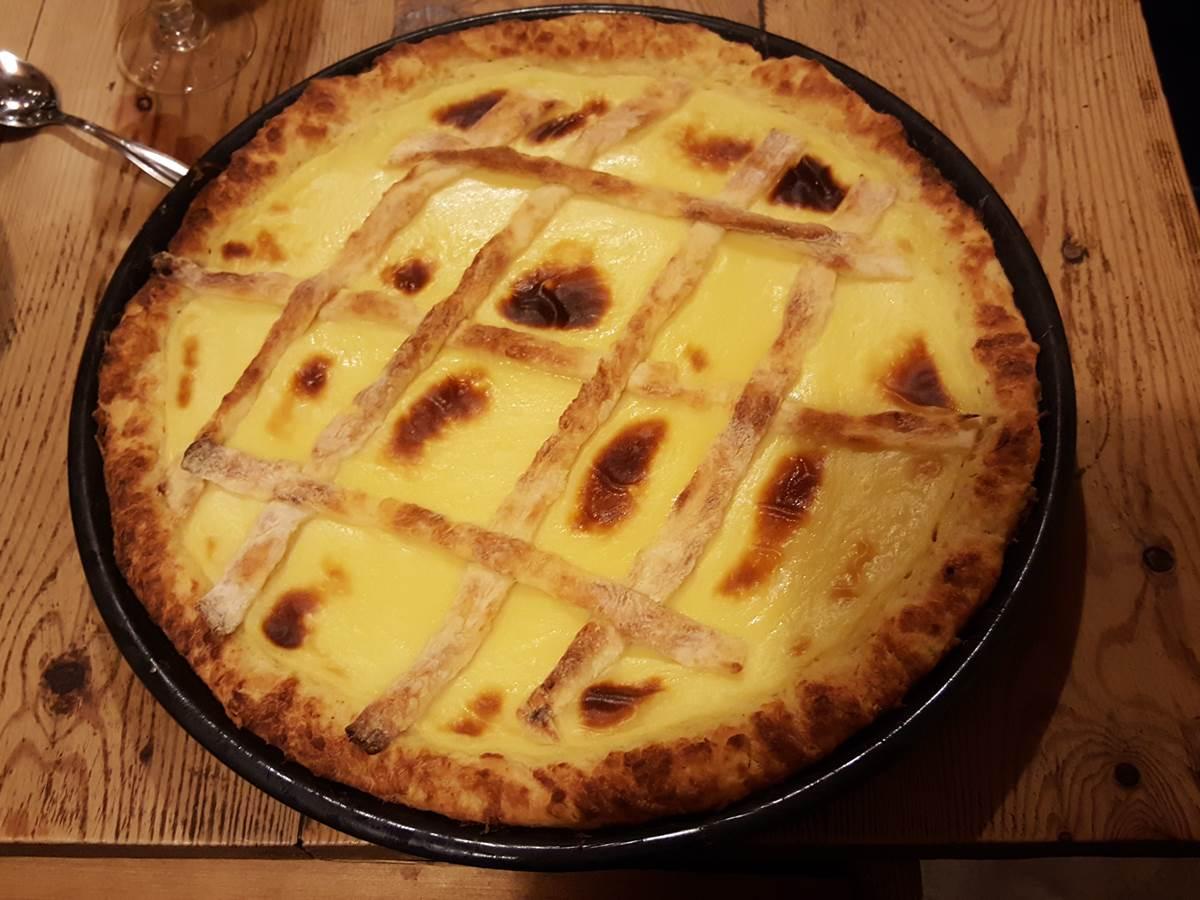 un des desserts de la table d'hôtes, la tarte au libouli