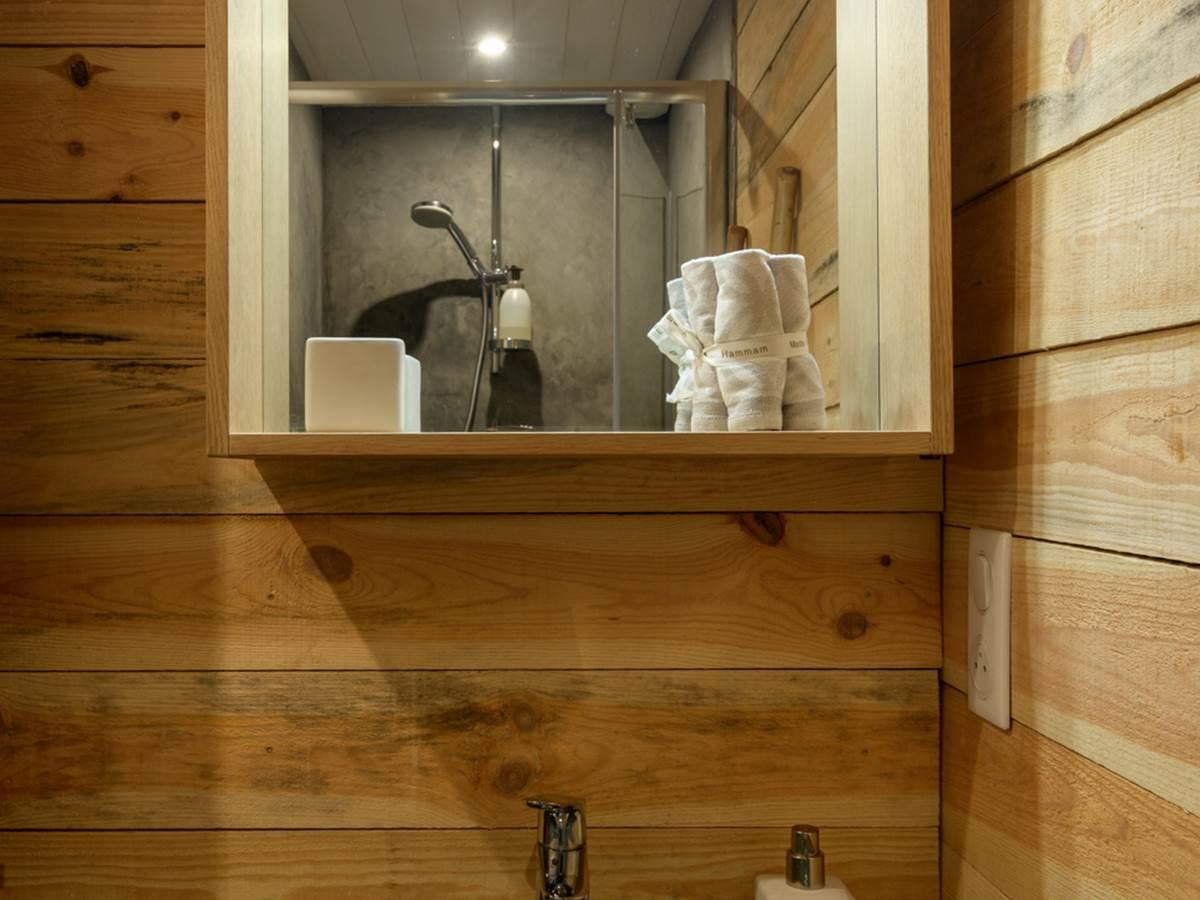 Salle de bain gîte bien être Le Jardin intérieur à Saint Congard - Bretagne