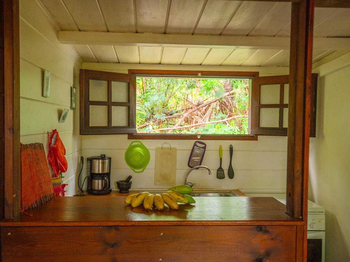 coin cuisine donnant sur la terrasse