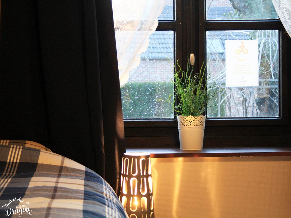 Fenêtre chambre 2 lits simples