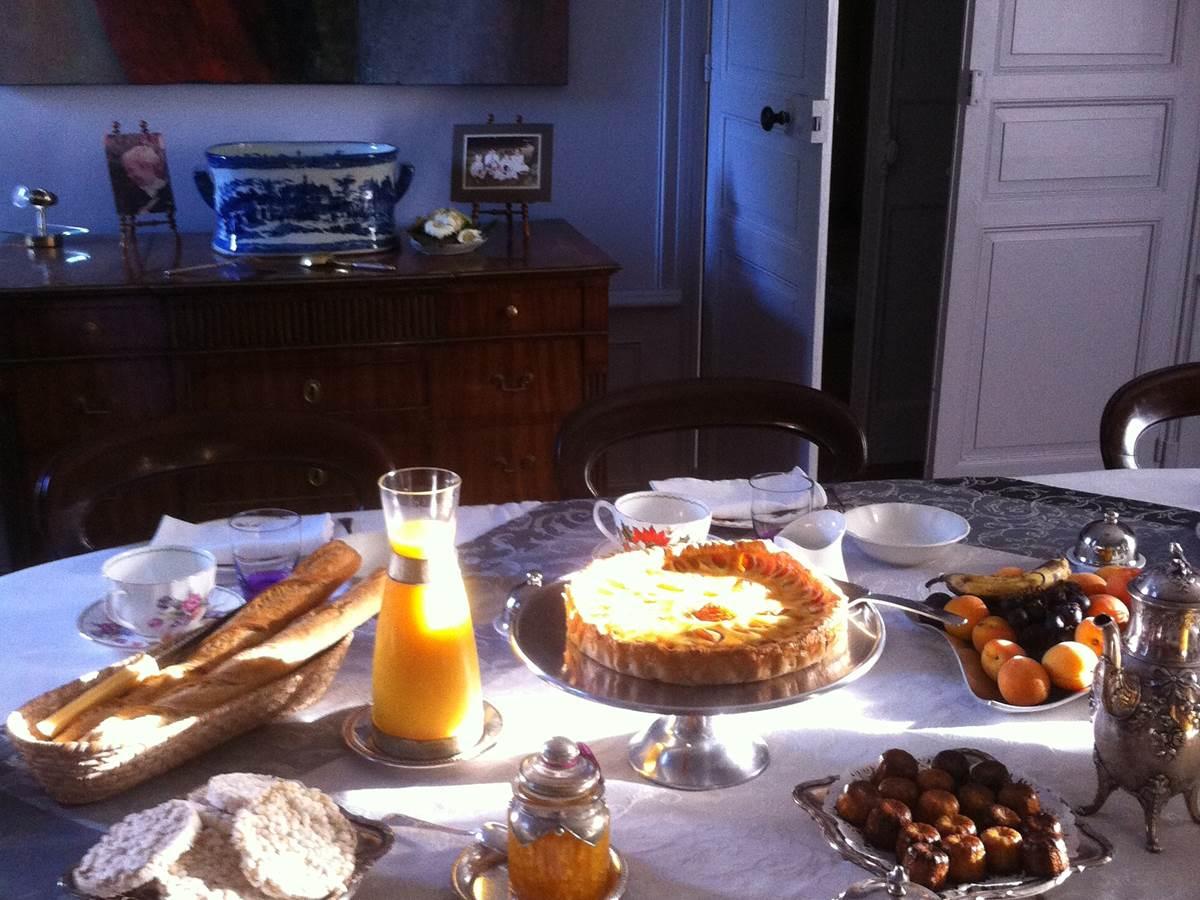 Détail table du petit déjeuner