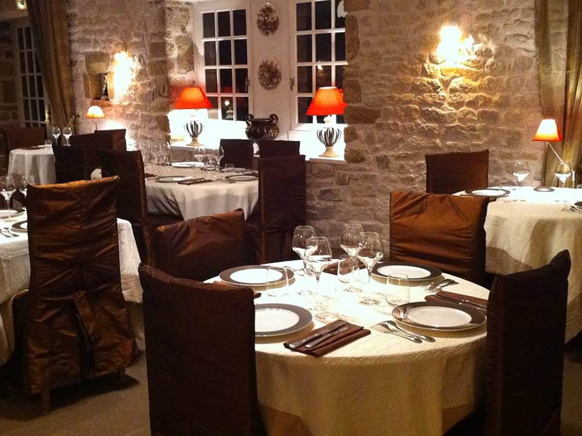 Salle à manger Hôtel de Kerlon Plouhinec Morbihan