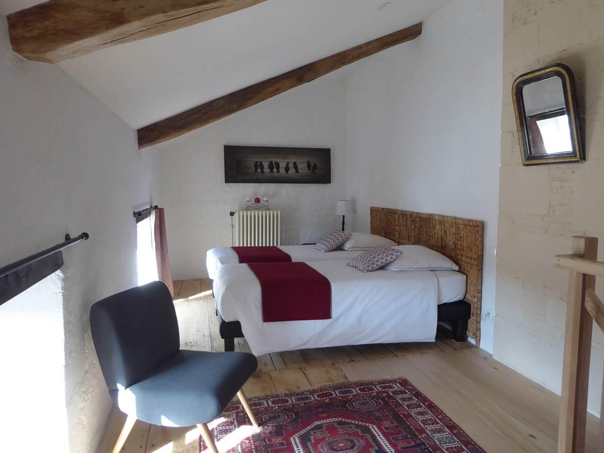 Suite Médiévale, la chambre en duplex