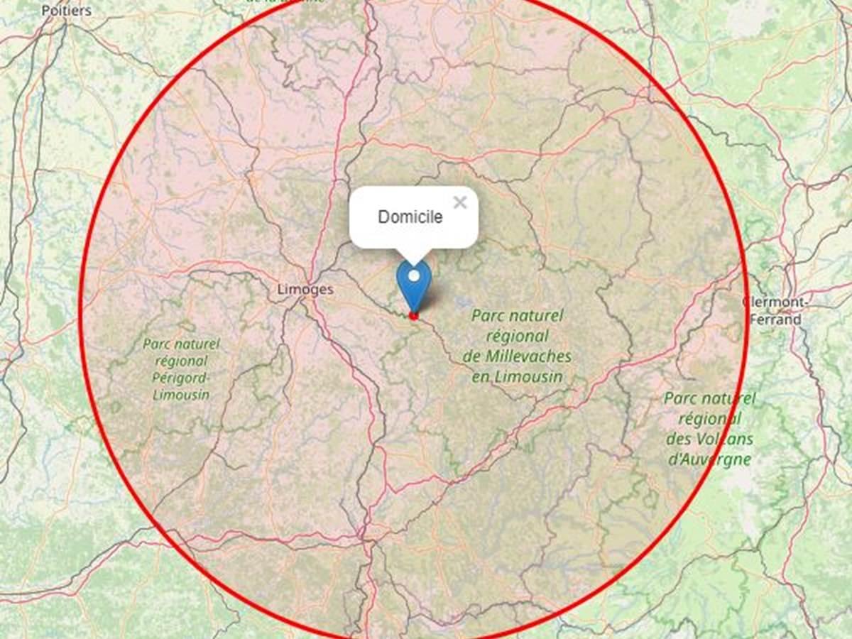 carte 100km au tour du Ranch des Lacs découvrir la Haute-Vienne, la Creuse, la Corrèze