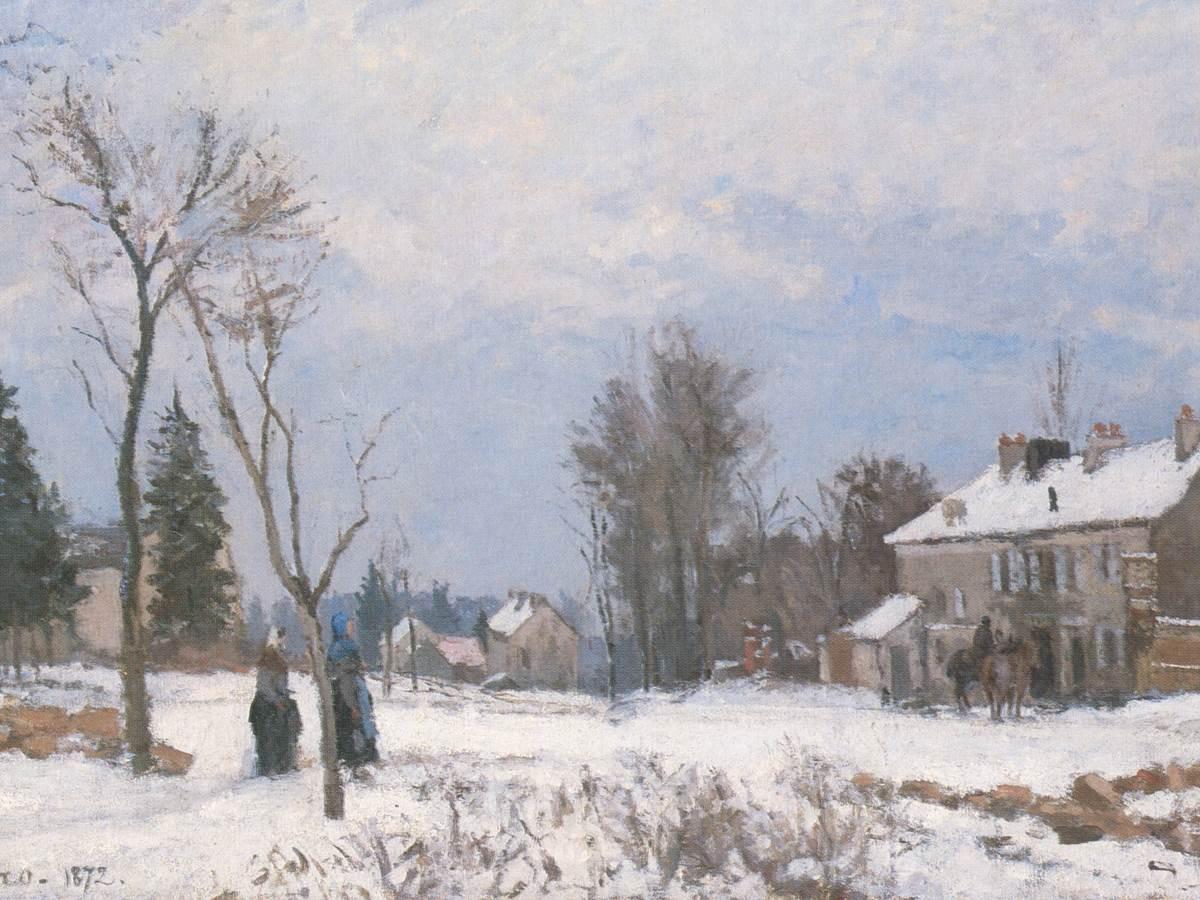 Pissarro, La route de Versailles à Saint-Germain