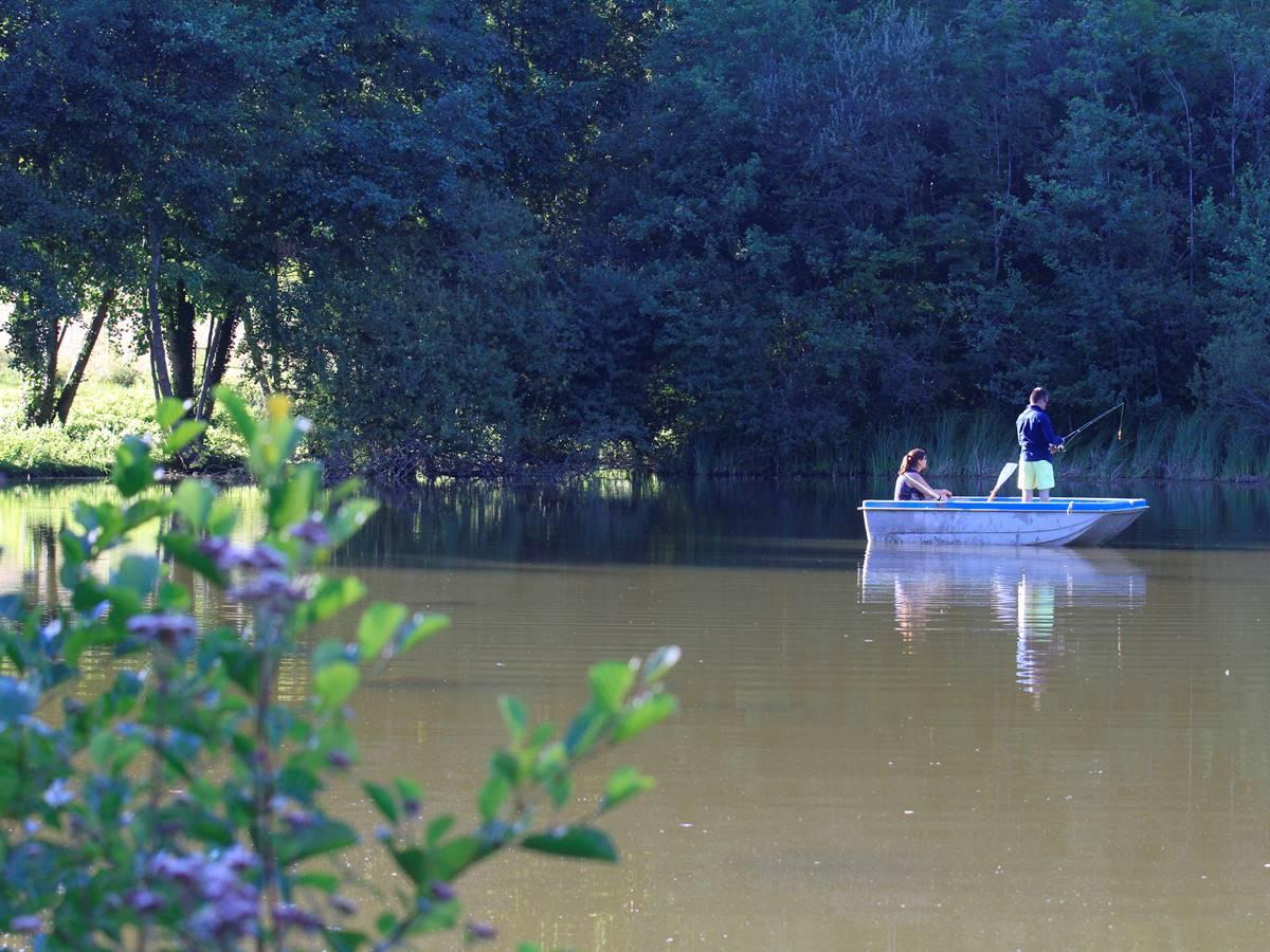 Barque sur l'étang