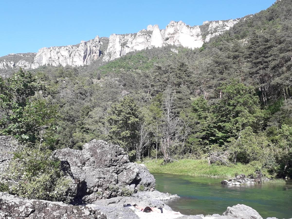 Baignade Gorge du Tarn