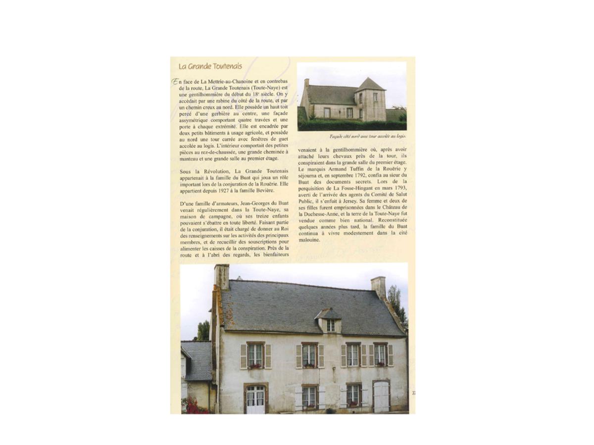 Histoire de notre malouinière avant sa restauration